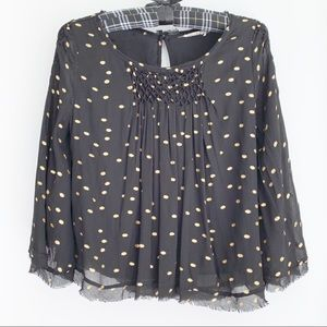 Anthropologie FLOREAT EverAfter chiffon blouse